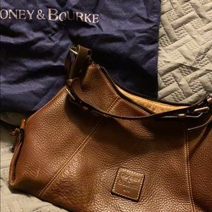 Brown pebbled leather Dooney & Bourke